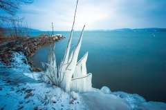 Jour de bise sur le lac de Morat